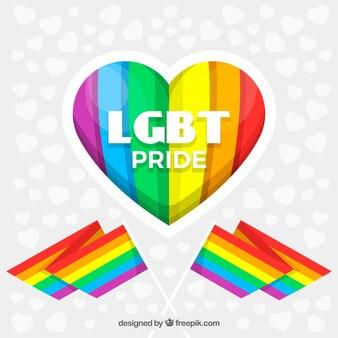 Lgbt orgoglio di fondo con il cuore