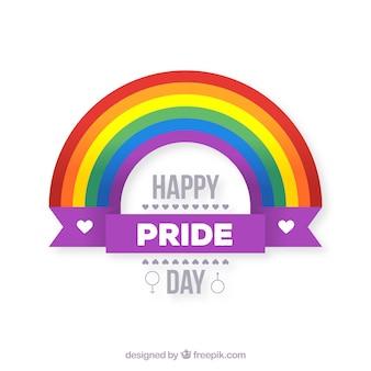 Lgtb orgoglio sfondo con arcobaleno piatto