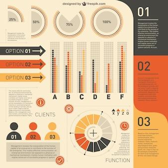 Libero modelli infographic illustratore