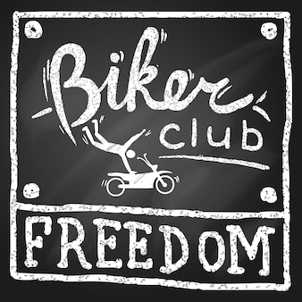 Libertà del club motociclista