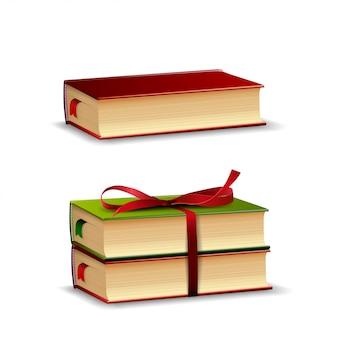 Libri isolati su bianco