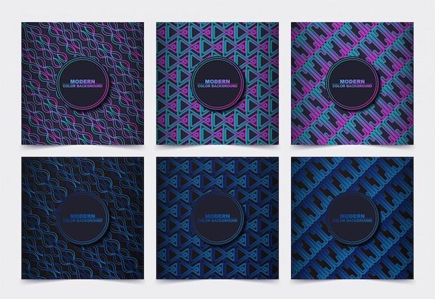 Libro astratto copertina moderna con colori scuri e sfumatura.