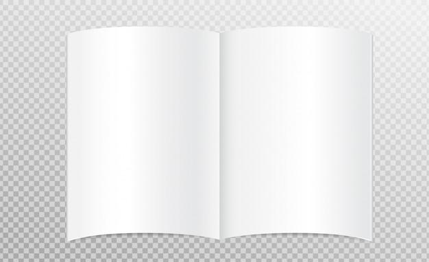 Libro bianco aperto
