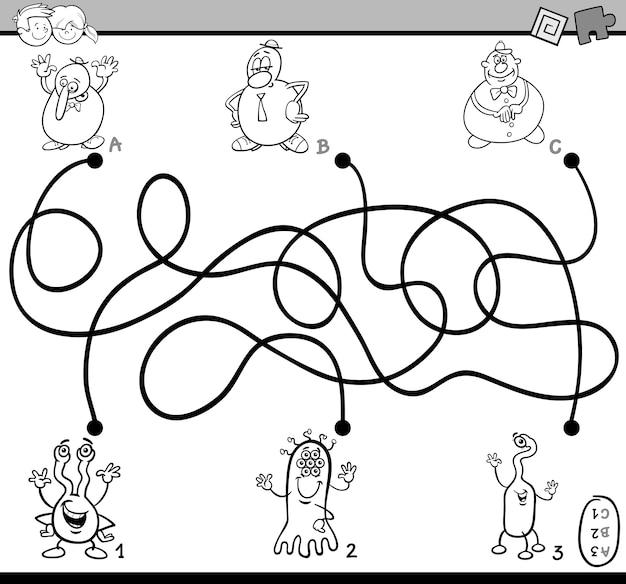 Libro da colorare attività labirinto