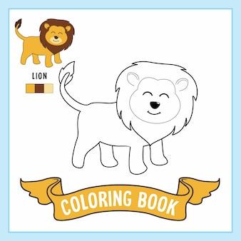 Libro da colorare con animali leone