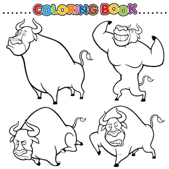 Libro da colorare dei cartoni animati - toro
