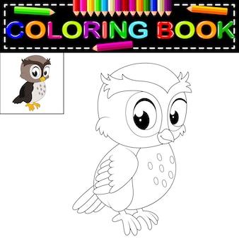 Libro da colorare gufo