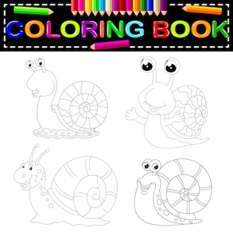 Libro da colorare lumaca