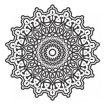Libro da colorare mandala in bianco e nero