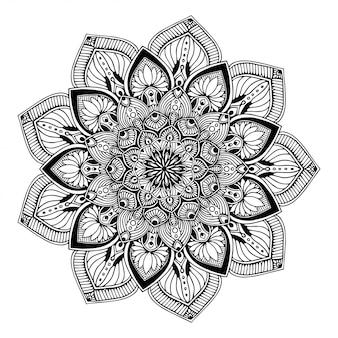 Libro da colorare mandala, orientaloterapia yoga doodle