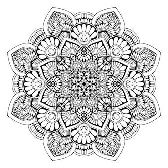 Libro da colorare mandala, terapia orientale, yoga