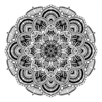 Libro da colorare mandala, terapia orientale, yoga.