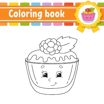 Libro da colorare per bambini. carattere allegro. illustrazione.