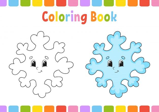Libro da colorare per bambini. carattere allegro.