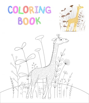 Libro da colorare per bambini con animali cartoon