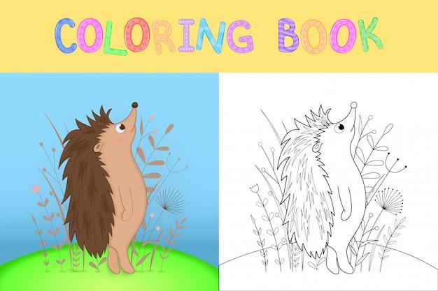 Libro da colorare per bambini con animali dei cartoni animati