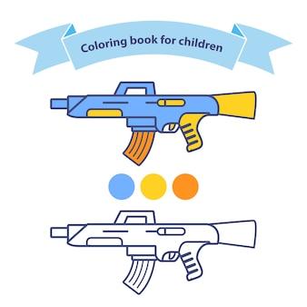 Libro da colorare per bambini con fucile di precisione