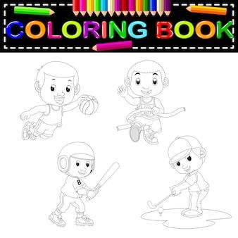 Libro da colorare sportivo