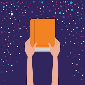 Libro della holding della mano