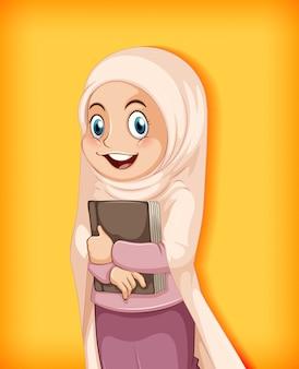 Libro della holding della ragazza musulmana