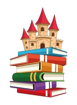 Libro di fantasia con carattere di storie