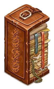 Libro di incantesimi e stregoneria.