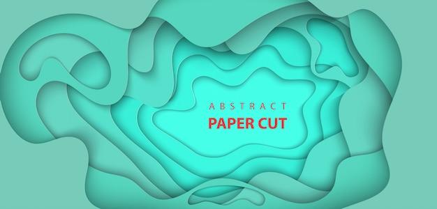 Libro verde astratto tagliato sfondo