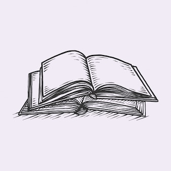 Libro vintage disegnato a mano