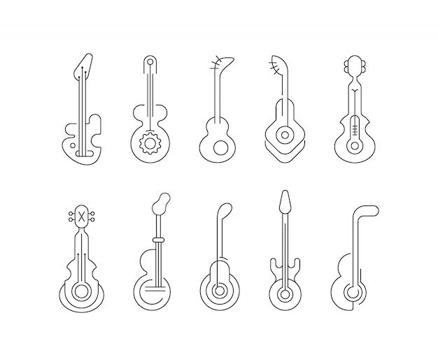 Line art di chitarra