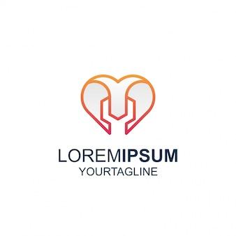 Line art love tool logo di ispirazione eccezionale