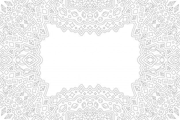 Line art per la pagina del libro da colorare con bordo cosmico