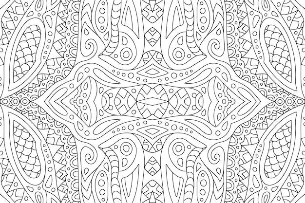 Linea arte per libro da colorare con motivo orientale