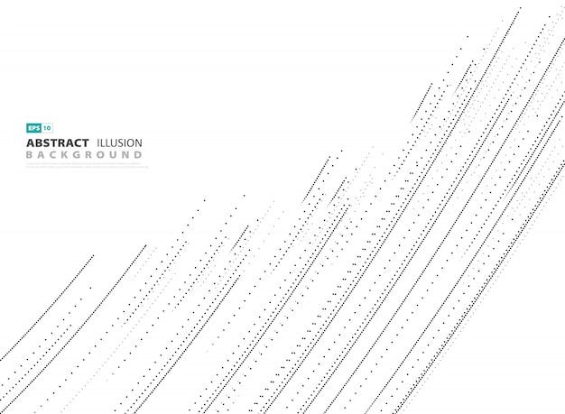 Linea astratta del punto di copertura su fondo bianco.
