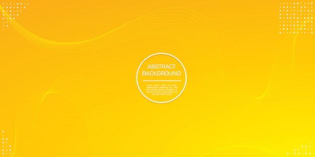 Linea astratta ini colore gradazione giallo con elemento a cerchio