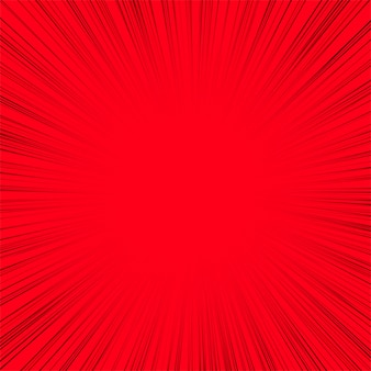 Linea astratta raggi sfondo rosso