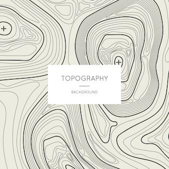 Linea contorno topografia mappa contorno