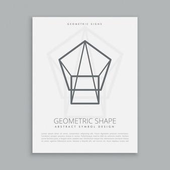 Linea di design simbolo geometrico