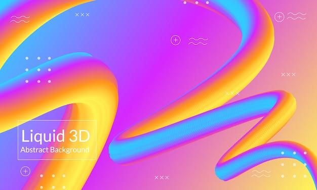 Linea di fondo fluido 3d