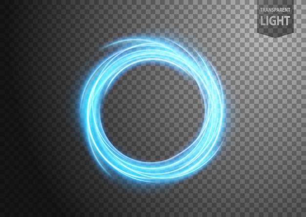 Linea di luce ondulata blu astratta