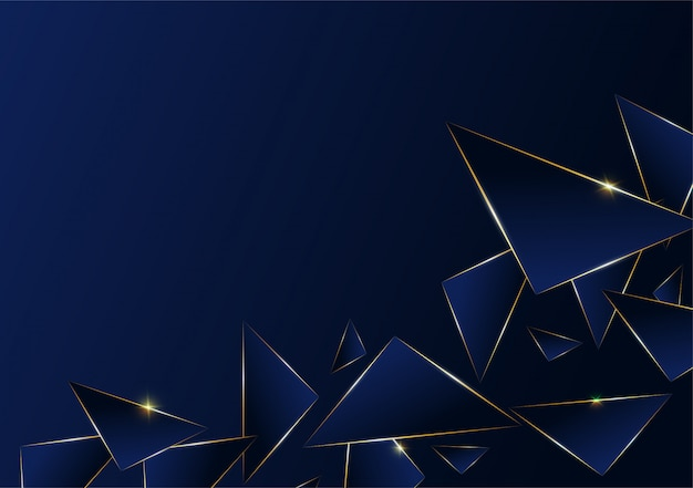 Linea dorata di lusso del modello poligonale astratto