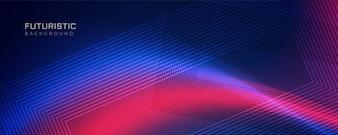Linea futuristica sfondo con effetto di luce