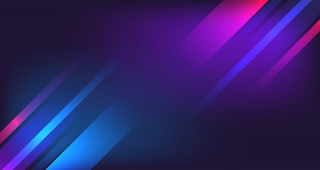 Linea geometrica astratta sfondo al neon