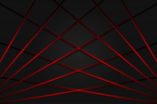 Linea luce rossa ombra sfondo grigio scuro