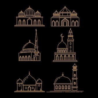 Linea moderna concetto di arte moschea