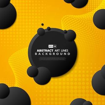 Linea moderna di pendenza astratta tecnologia sfondo giallo