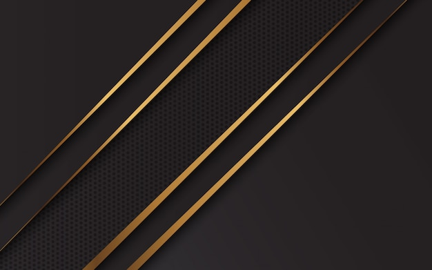 Linea moderna fondo nero e oro design moderno di lusso