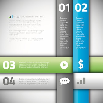 Linea moderna vettore di bandiera di opzioni di infographics di affari