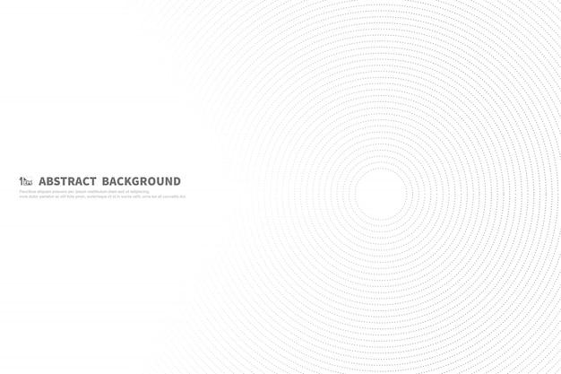 Linea nera astratta fondo del cerchio del materiale illustrativo di tecnologia della decorazione.