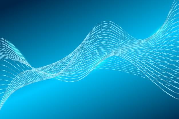 Linea onda particelle sfondo astratto