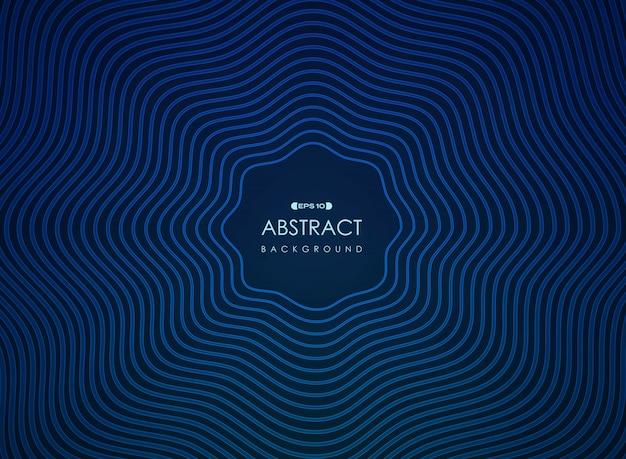 Linea ondulata astratta di futuristico blu nella presentazione concentrare.
